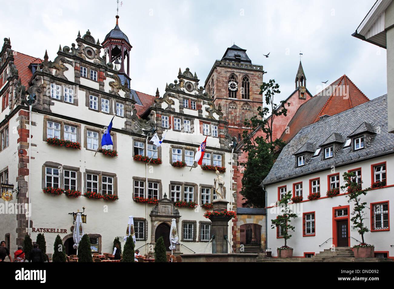 Germany, Hesse, Bad Hersfeld, Old Town Hall Stock Photo