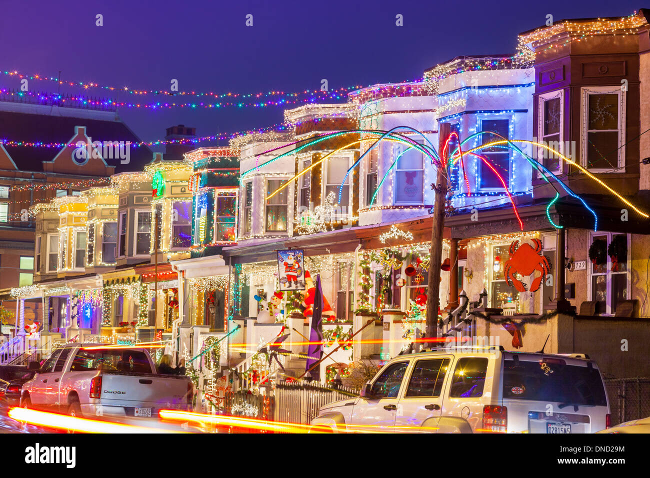 community christmas lighting miracle on 34th street hampden baltimore maryland - Christmas In Baltimore