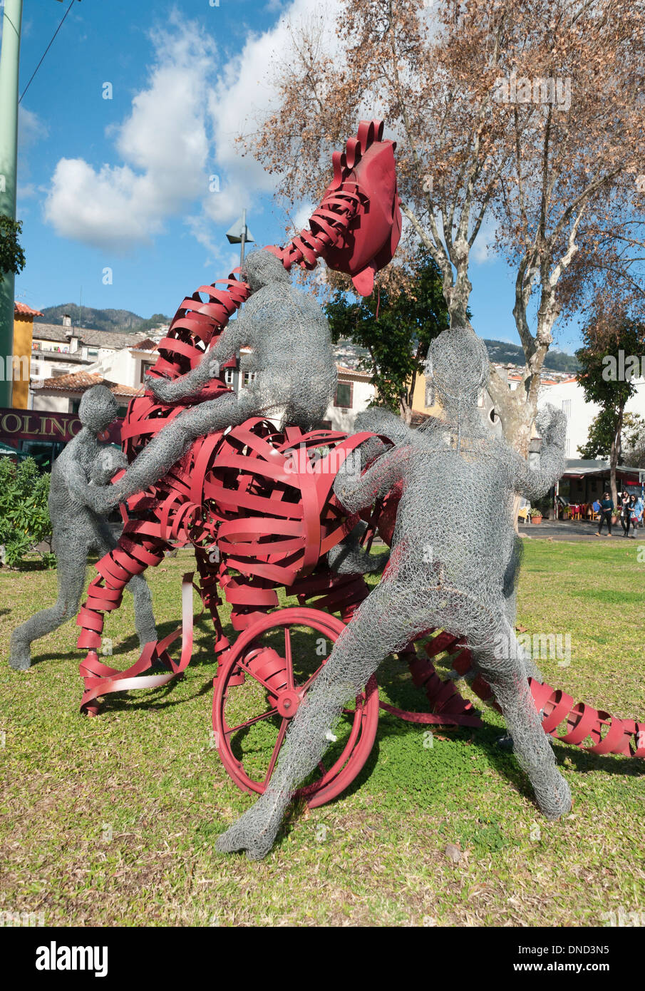 Art works in the Parque Almirante Reis, Funchal - Stock Image