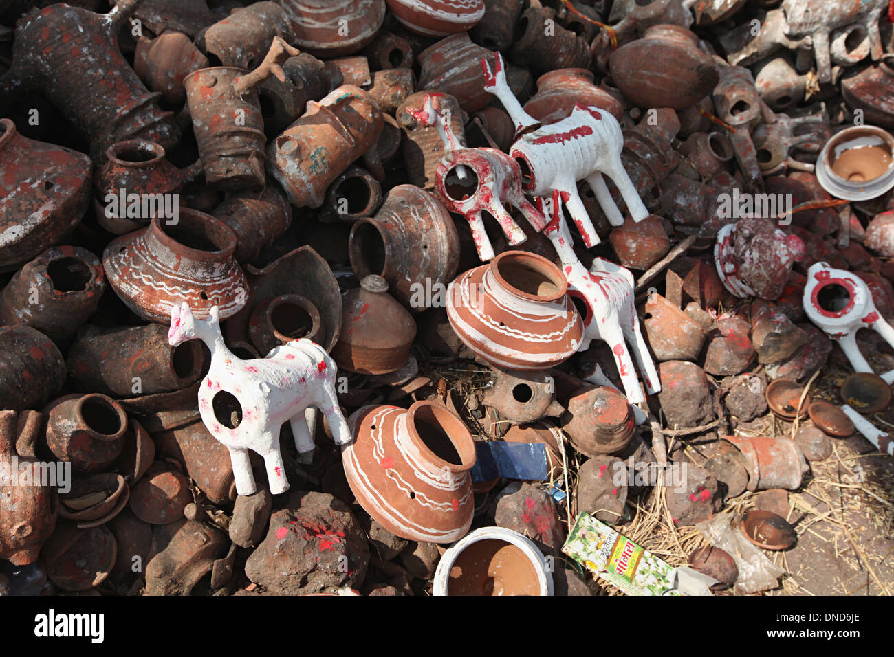 Tribal God. Bhil tribe, Zabua district, Madhya Pradesh, India. - Stock Image