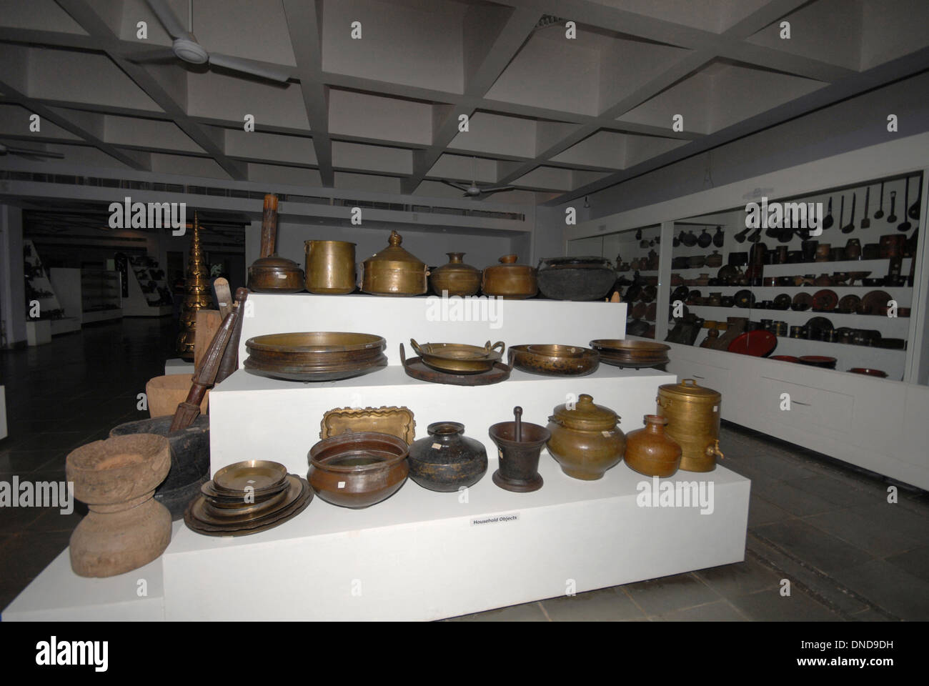 Exhibition of tribal vessels. Manav Sangrahalaya, Bhopal, Madhya Pradesh, India. - Stock Image