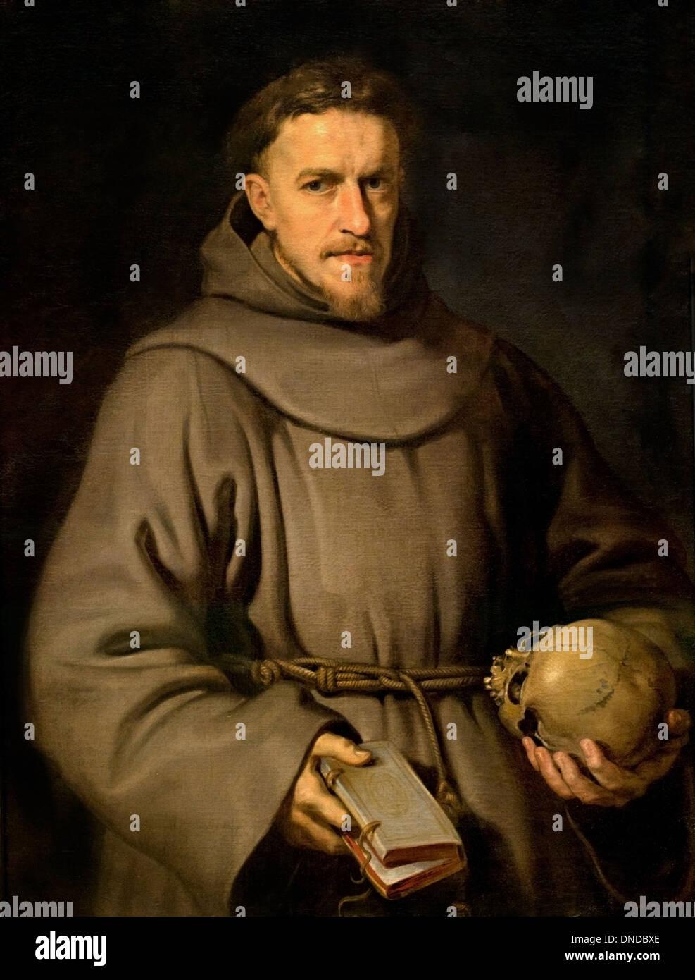 A general of the Franciscan Order by PETER PAUL RUBENS (1577-1640) Flemish Belgian Belgium - Stock Image