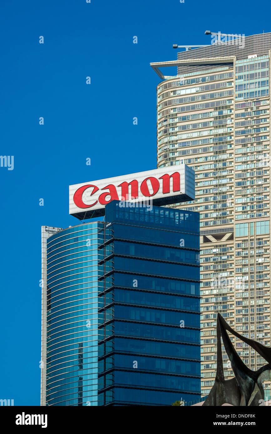 Canon Building, Tsim Sha Tsui, Kowloon, Hong Kong - Stock Image