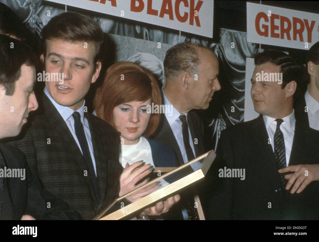 J David Stock Photos Images Alamy Jeep Commander Engine Diagram 5 7 L Emi Brian Epstein At Right With Billy Kramer And Cilla Black Talks To