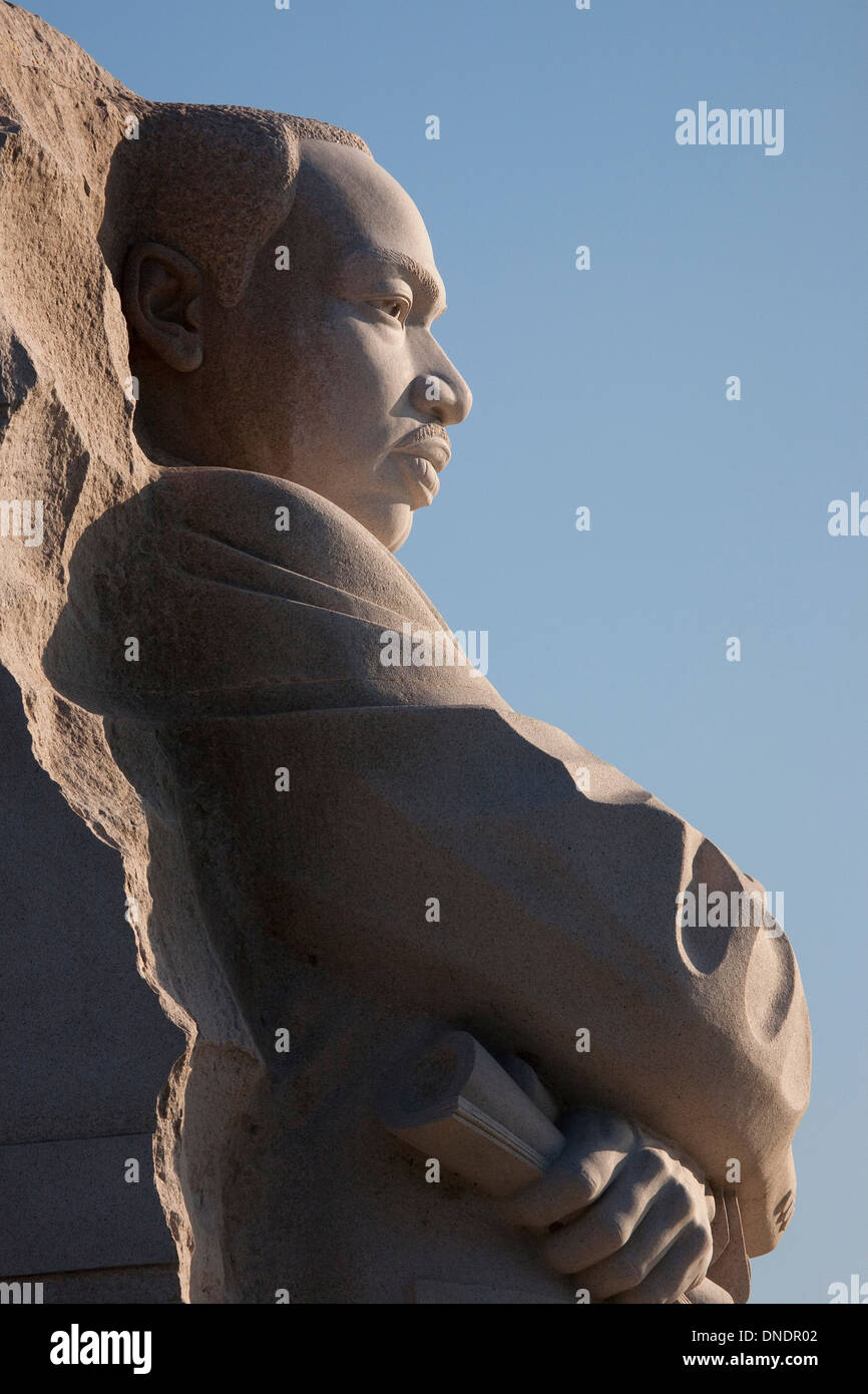 The Martin Luther King Jr. Memorial, a monument to civil rights leader. Located in Washington, D.C., the memorial is the 395th National Park, and is located on the National Mall on the Tidal Basin. - Stock Image