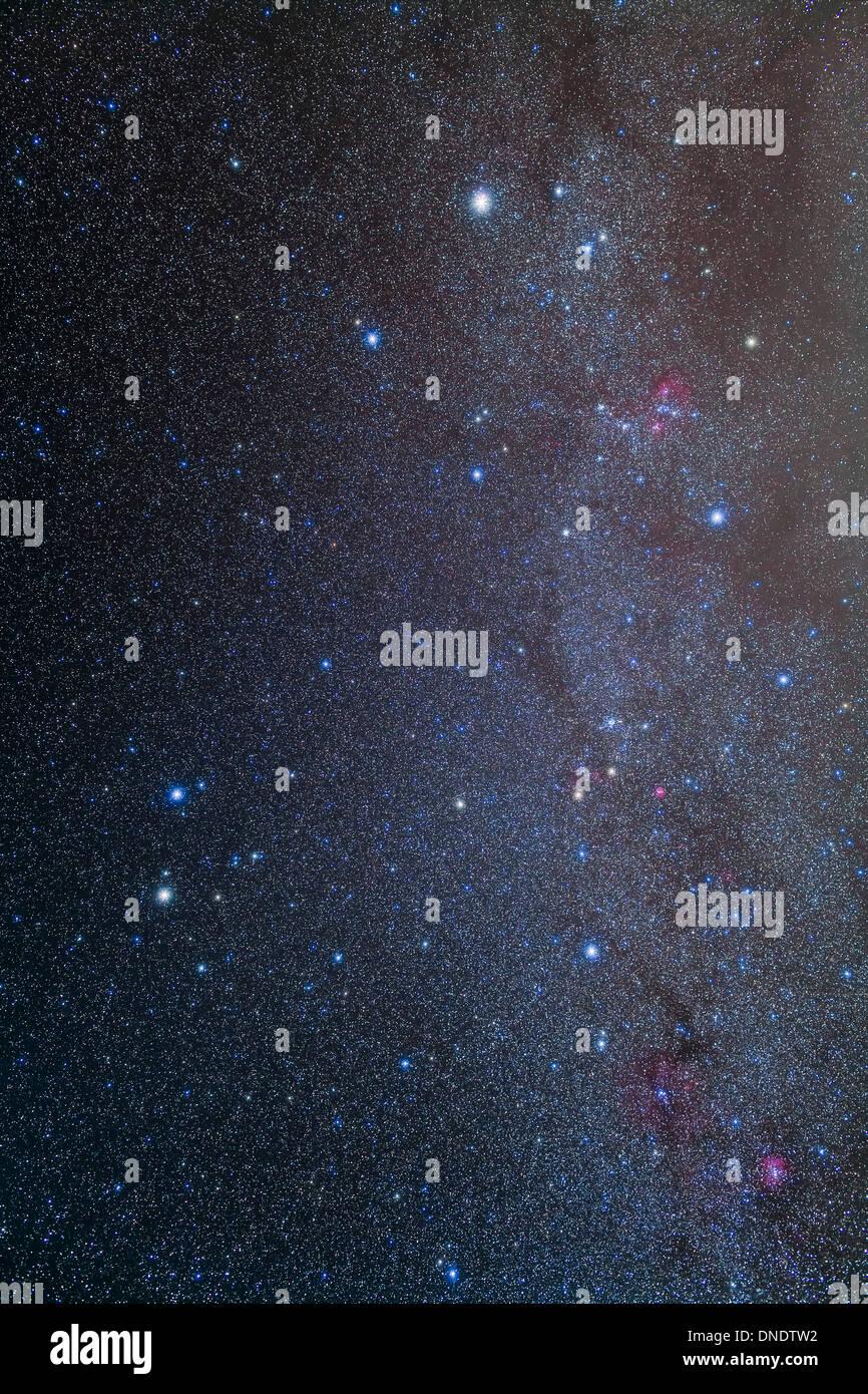 The constellations of Gemini and Auriga. - Stock Image