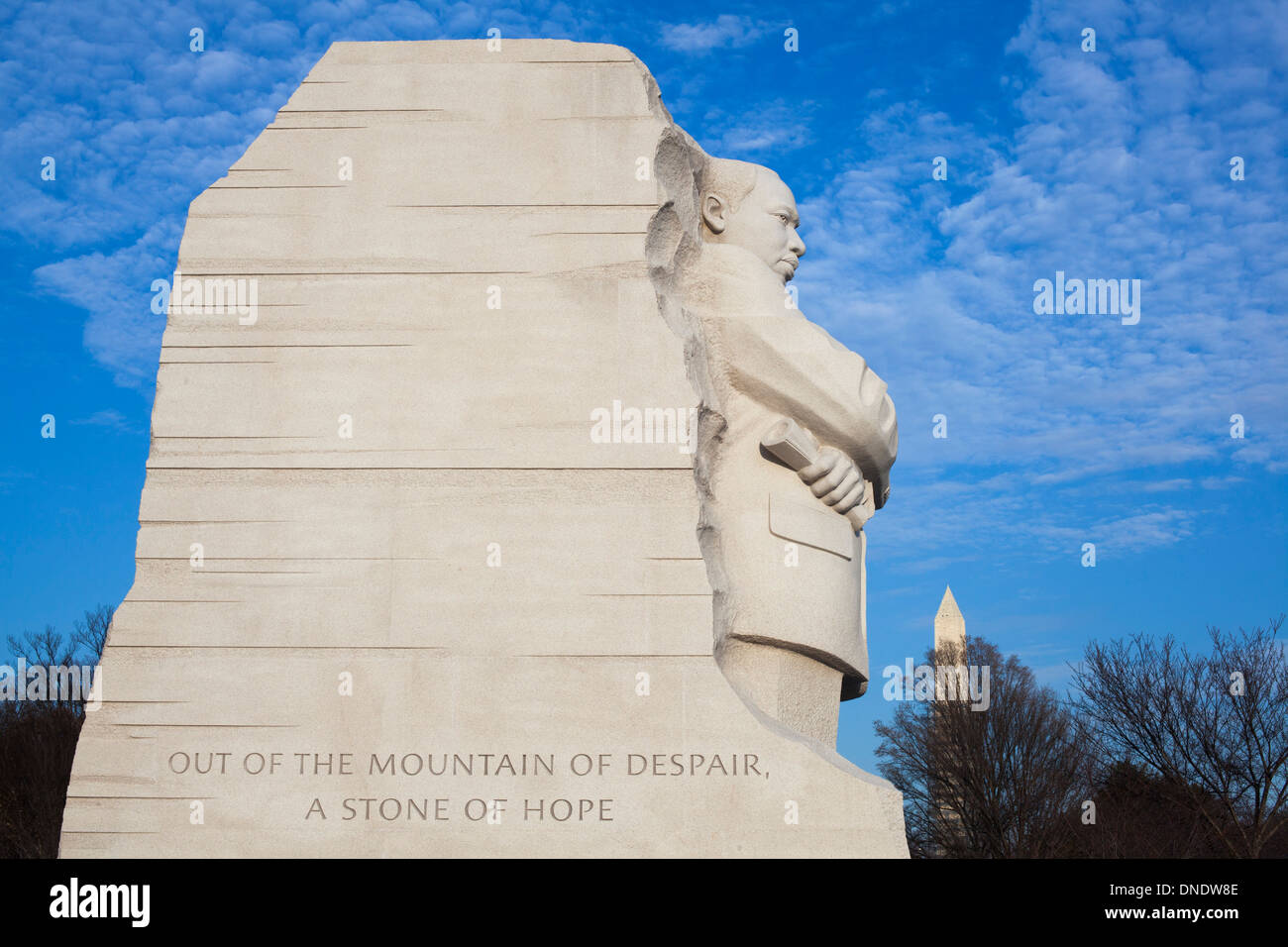 Washington, DC - The Martin Luther King Jr. Memorial. - Stock Image