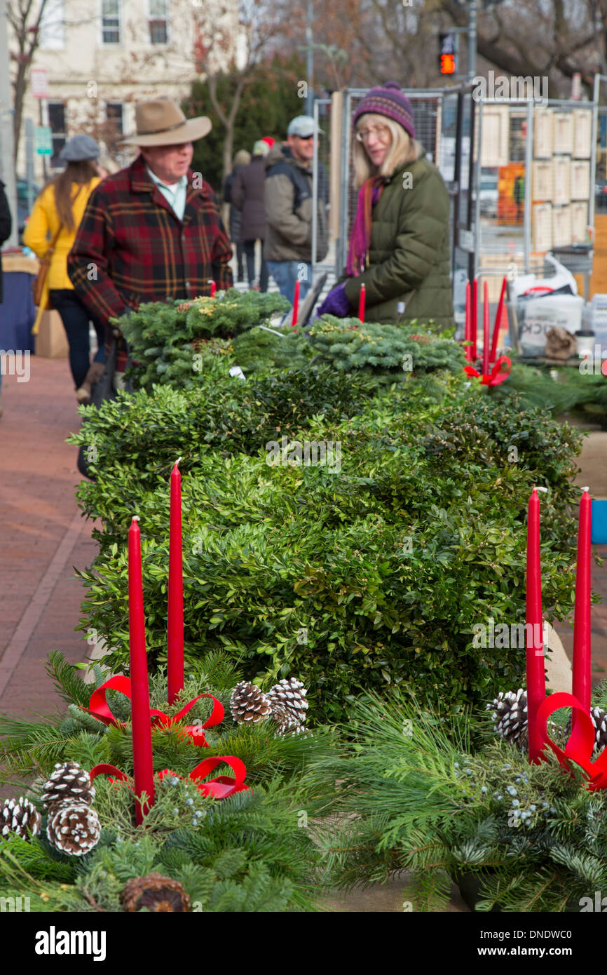 washington dc christmas greenery for sale at the historic eastern market on capitol hill - Christmas Greenery