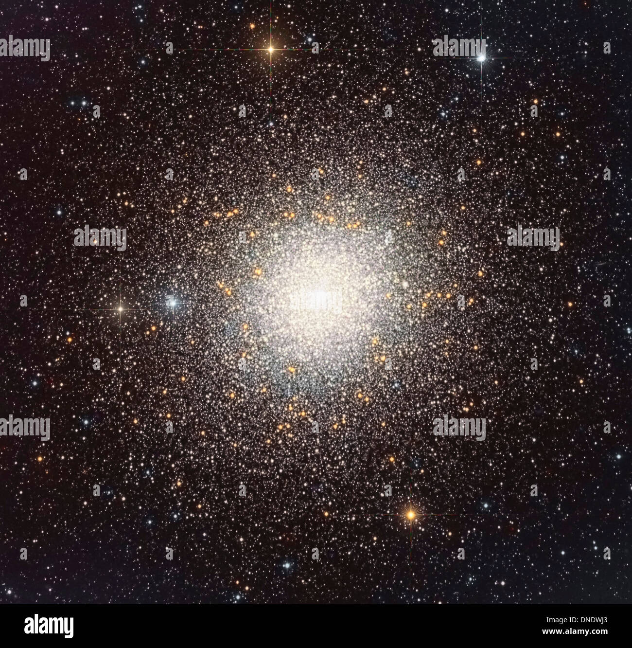 47 Tucanae (NGC 104), a globular cluster located in the constellation Tucana. - Stock Image