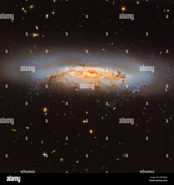 The Virgo Cluster galaxy NGC 4522. - Stock Image