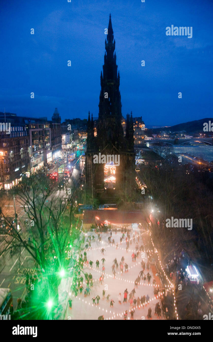 Christmas in Edinburgh Stock Photo