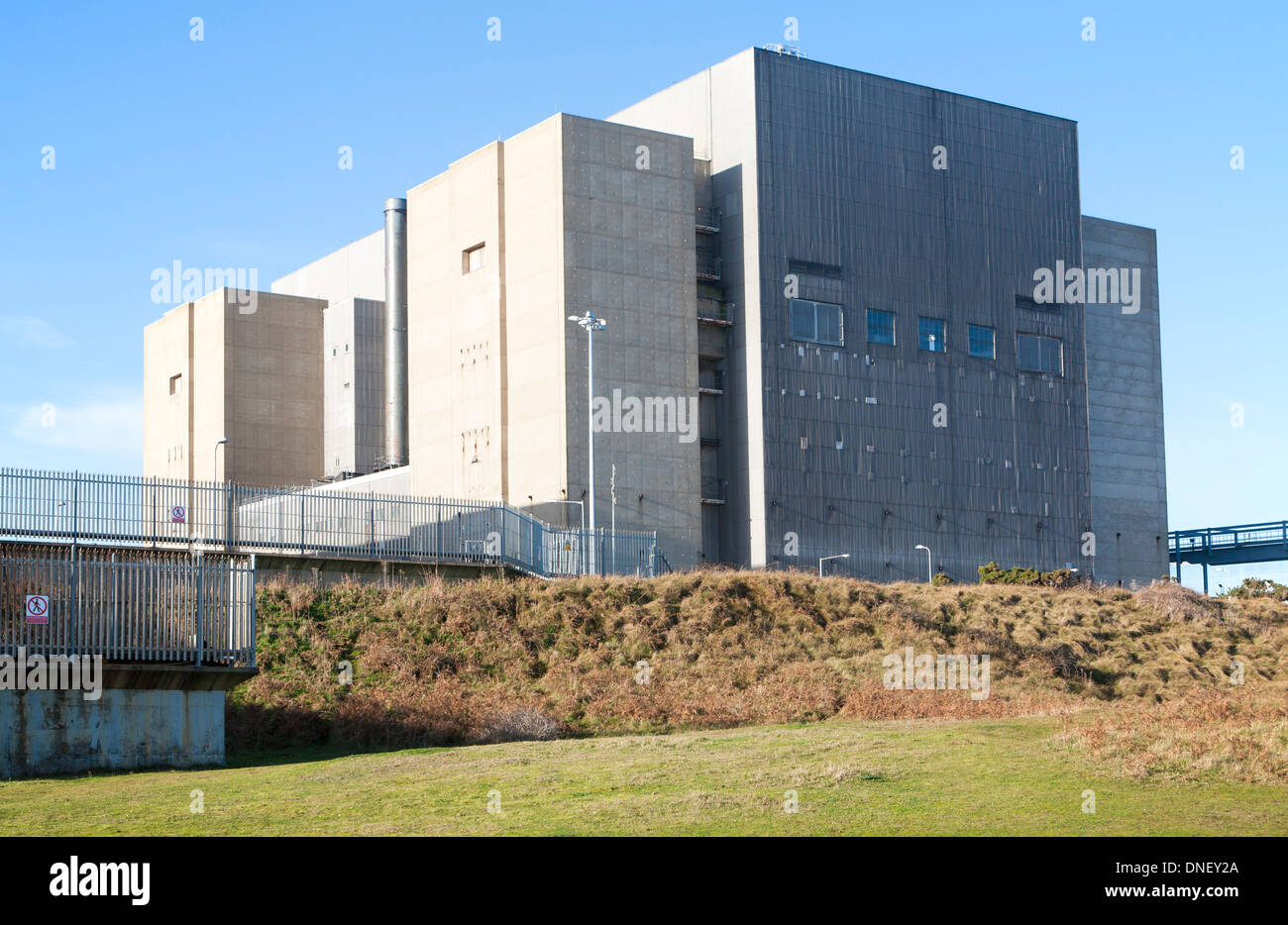 Decommissioned magnox reactor nuclear power station Sizewell A, near Leiston, Suffolk, England - Stock Image