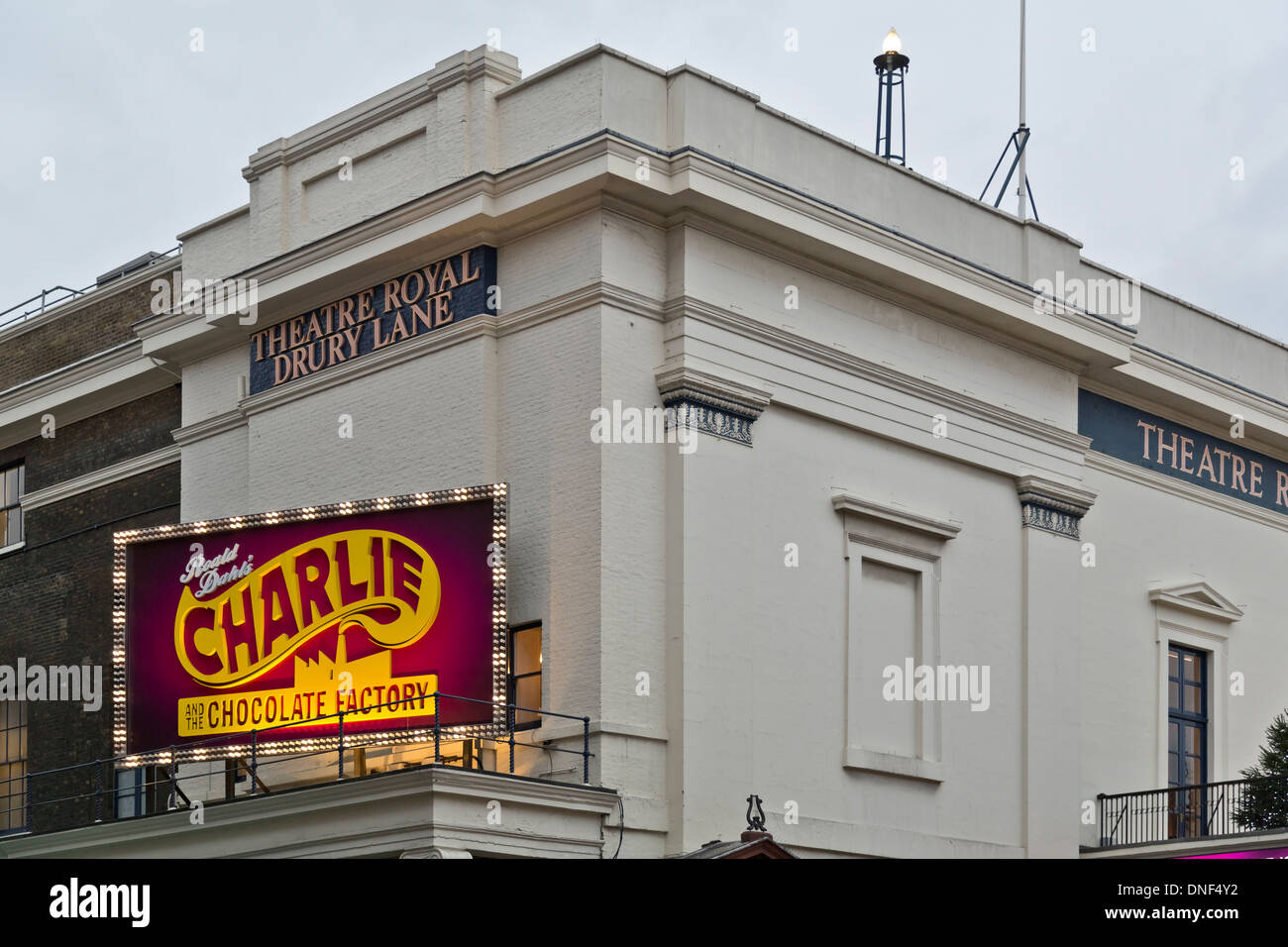 Roald Dahl's Charlie and the Chocolate Factory West End musical at the Theatre Royal Drury Lane, London, England - Stock Image