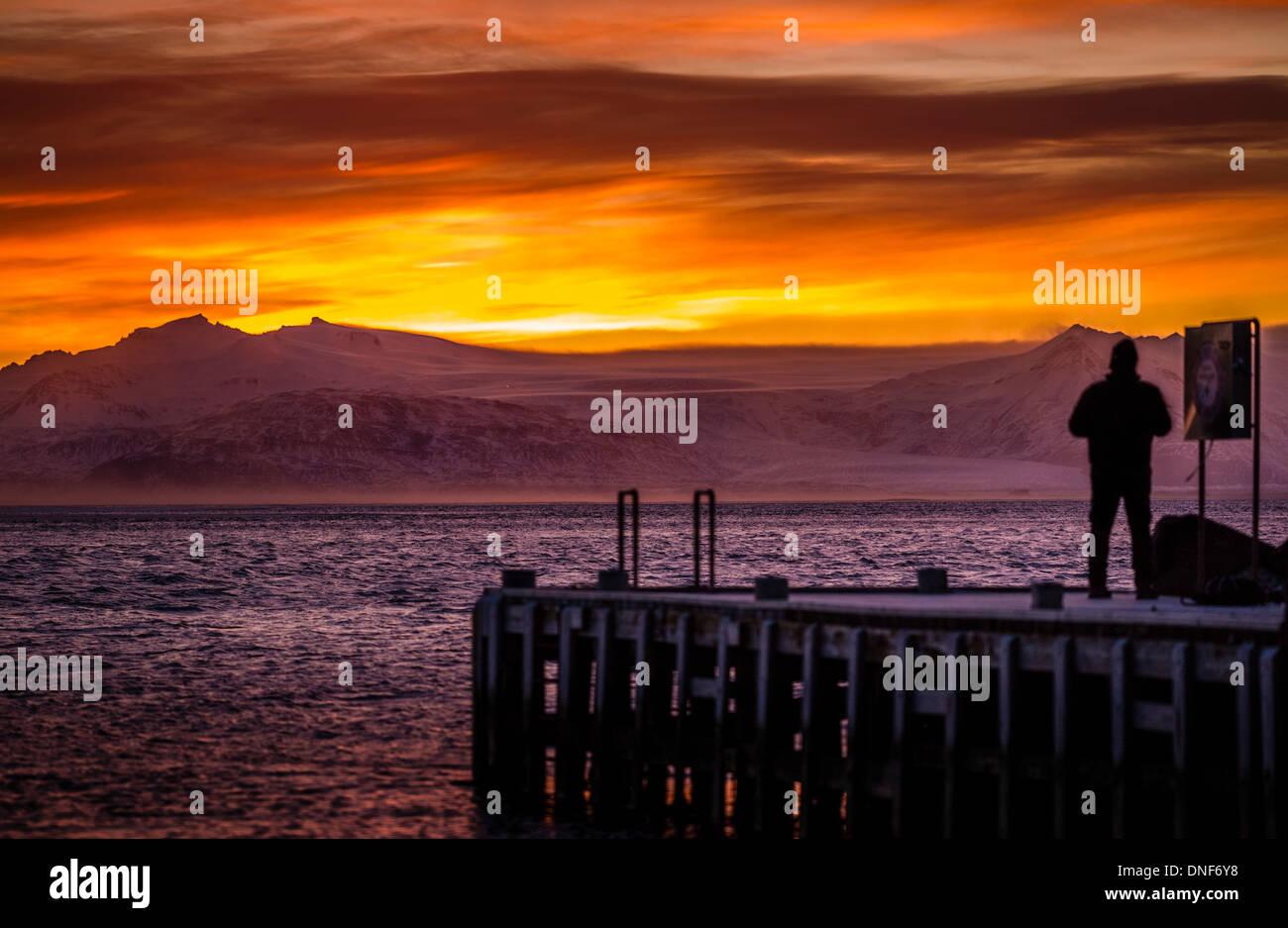 EUROPE HOFN ICELAND TRAVEL VATNAJOKULL GLACIER Stock Photo