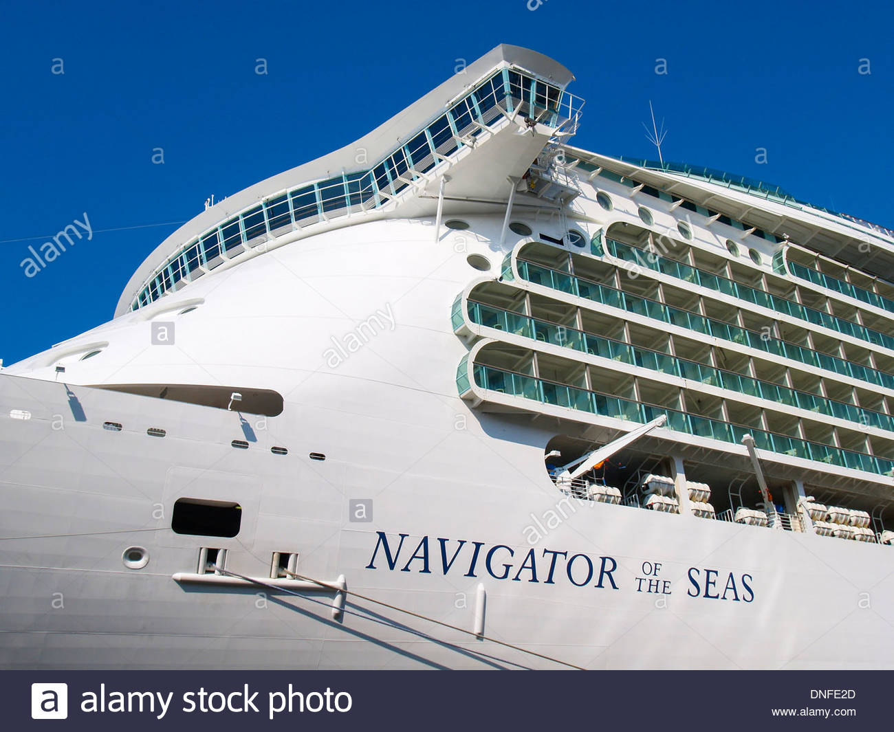 Amsterdam, Kreuzfahrtschiff Navigator of the Seas Stock Photo