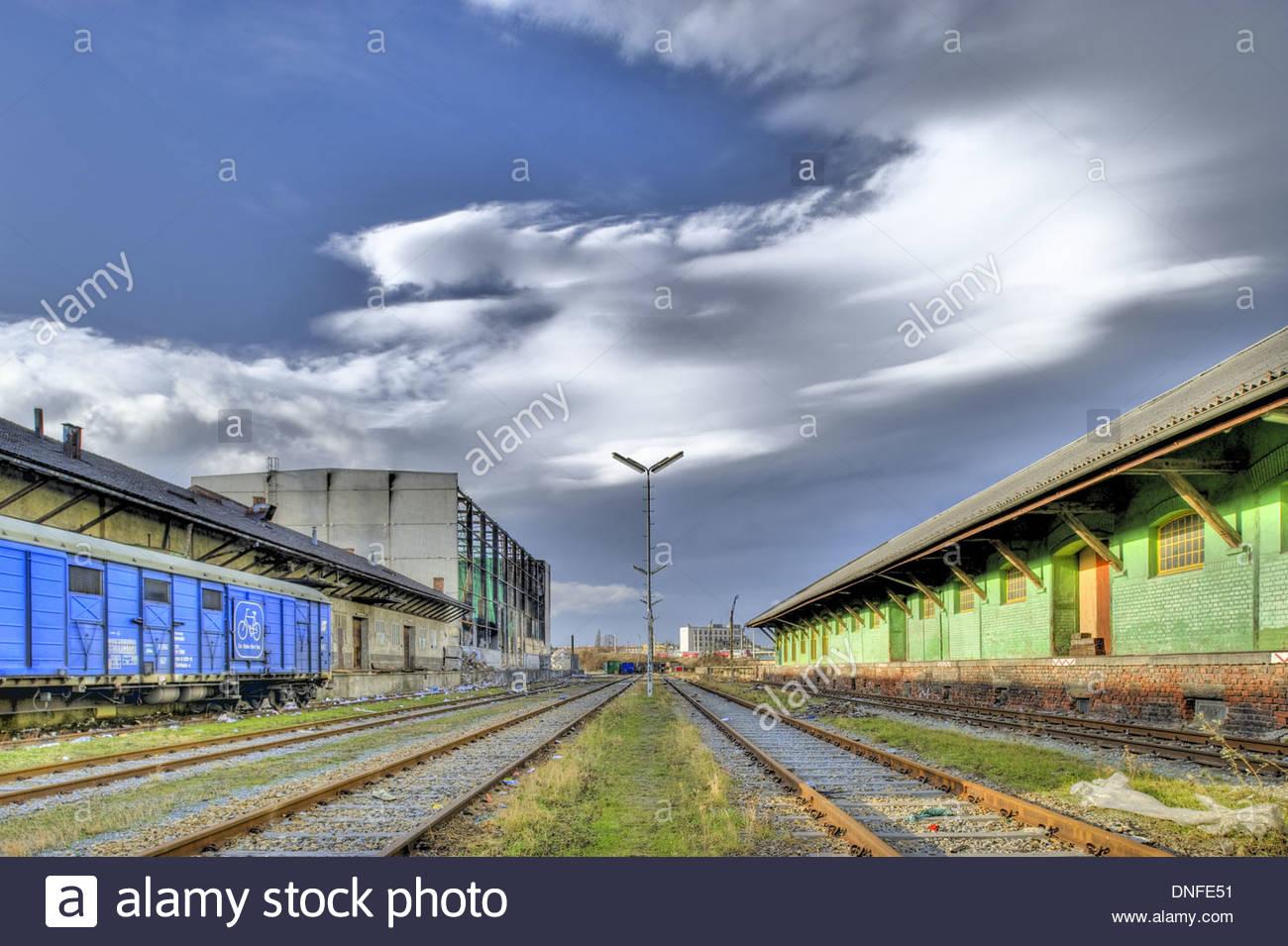 Frachtenbahnhof Wien Süd, Südbahnhof, Stadtentwicklungsgebiet Hauptbahnhof - Stock Image
