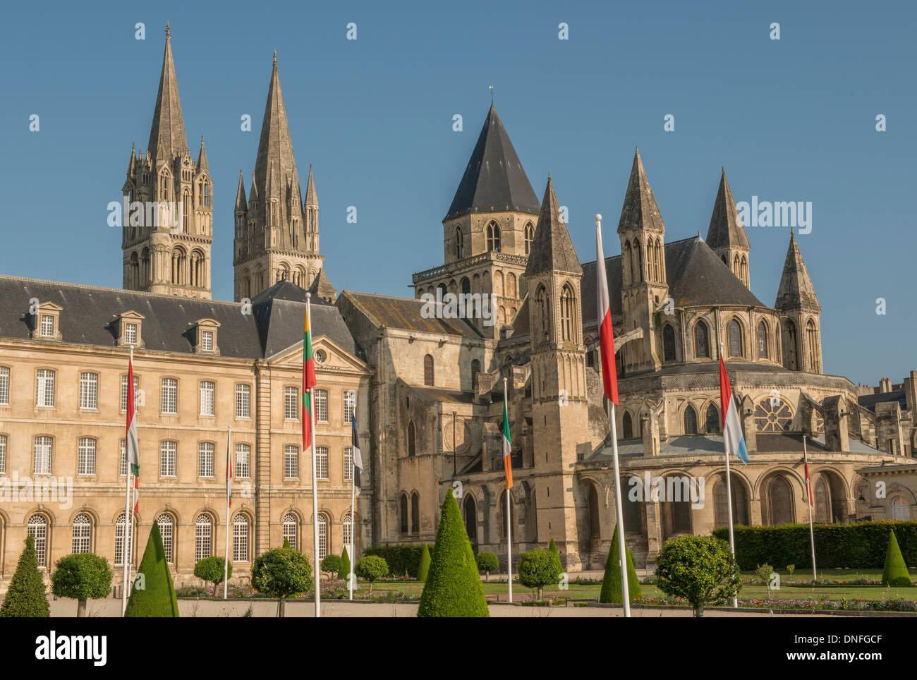 Cabinet D Architecte Caen hotel de ville and abbey of st etienne in caen in the