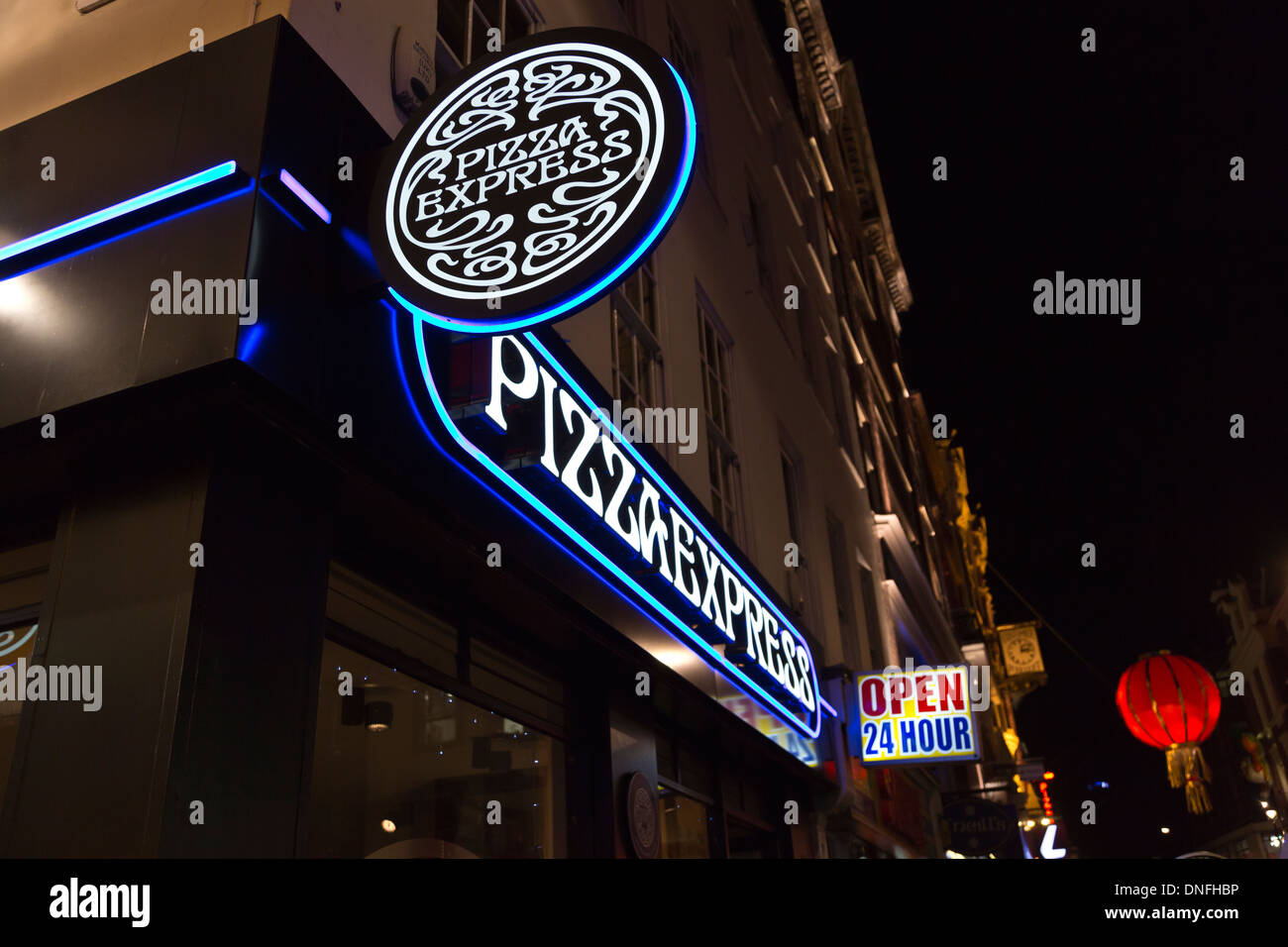 Pizza Express in Wardour Street, London Chinatown, England - Stock Image