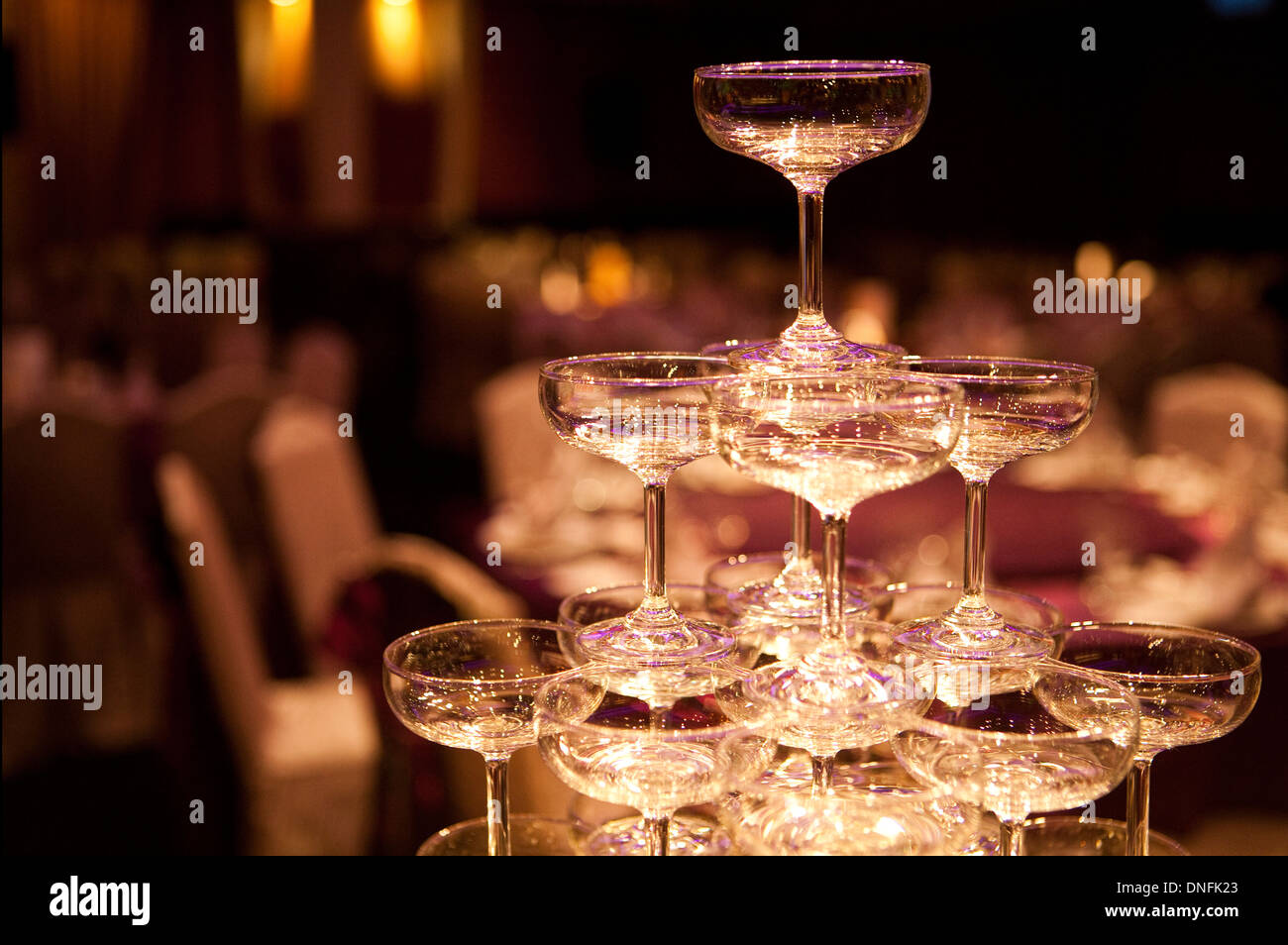 Champagne pyramid as decoration of your banquet 1