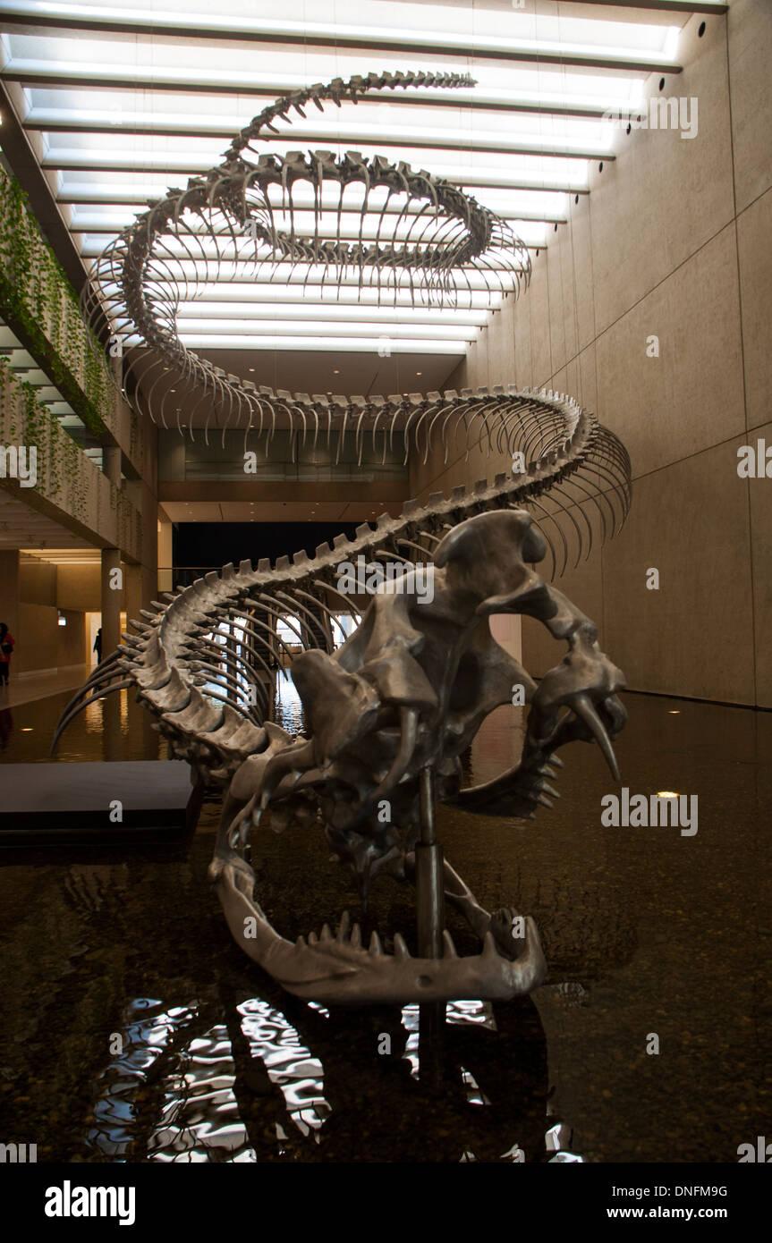 Dinosaur sculpture brisbane gallery - Stock Image