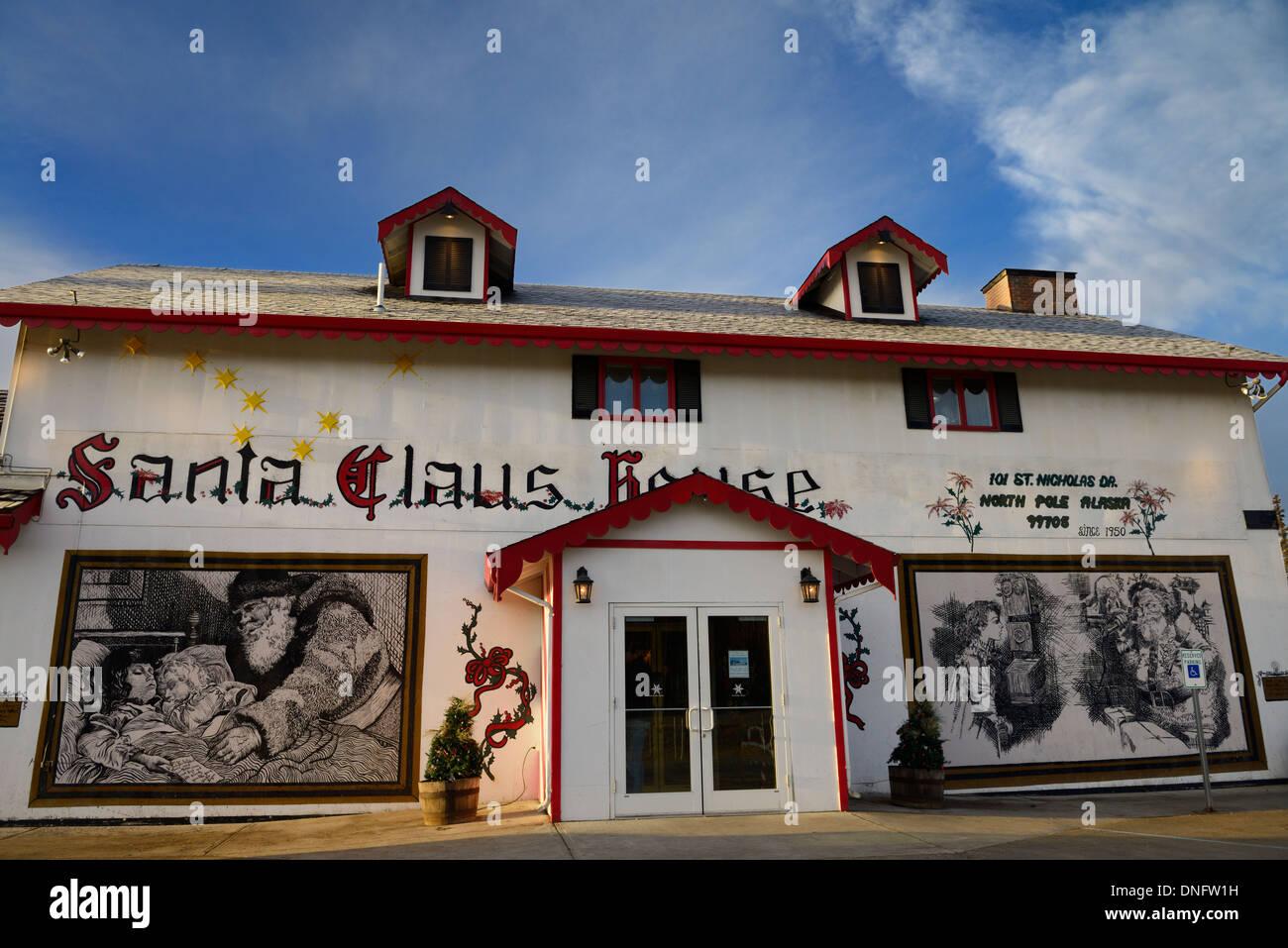 The original Santa Claus House at SantaLand North Pole Alaska USA - Stock Image