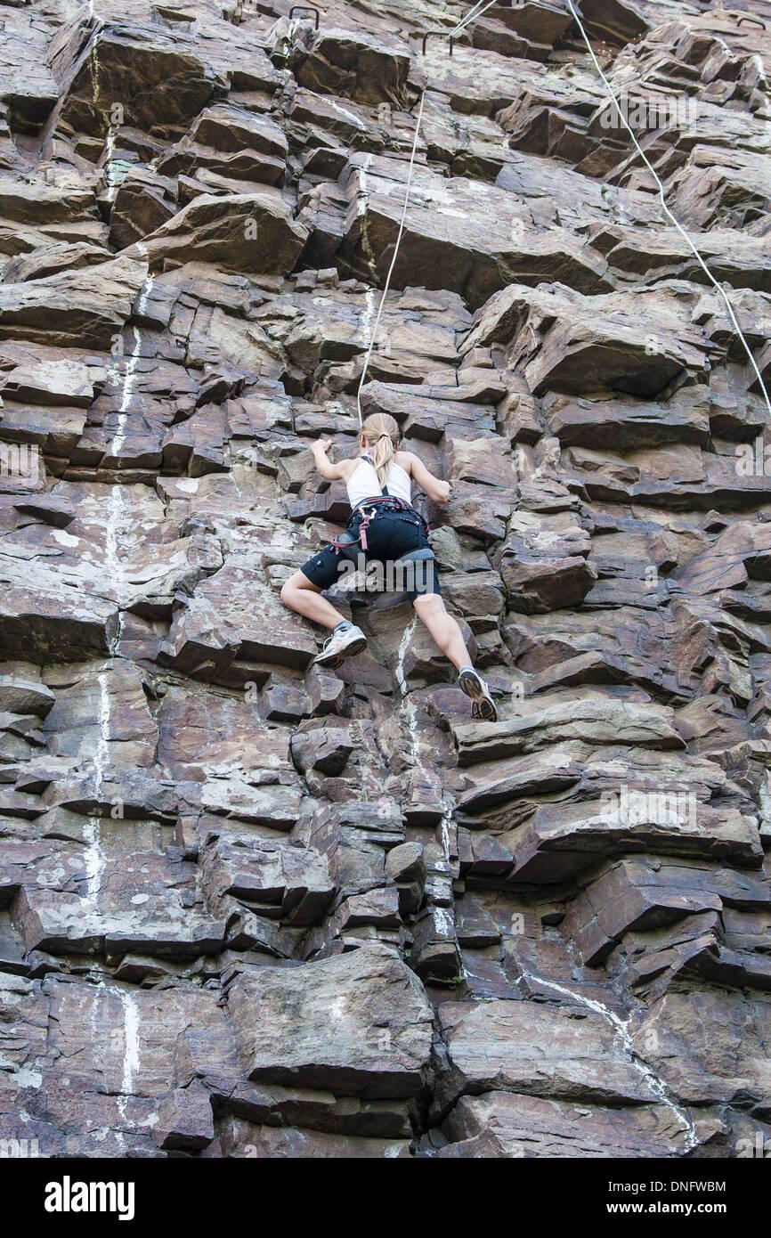 rock climbing - Stock Image