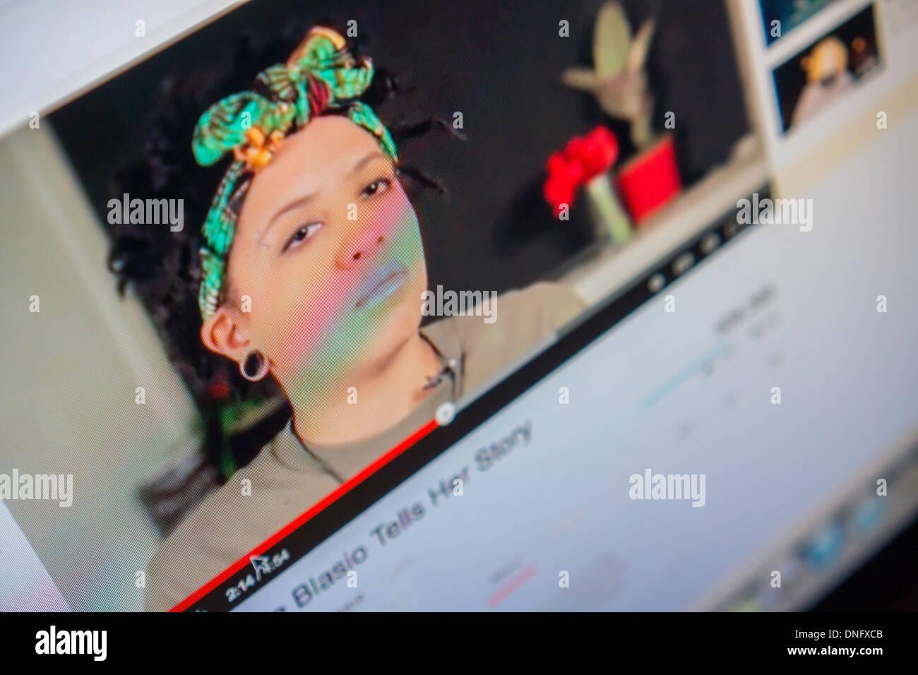 Chiara De Blasio, the 19-year old daughter of Mayor-elect Bill De Blasio,  is seen on her YouTube video