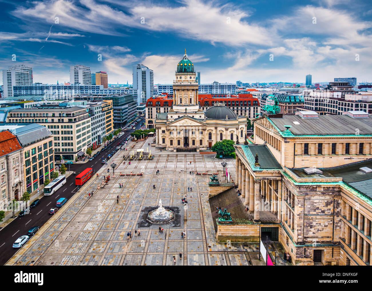 Berlin, Germany skyline over Gendarmenmarkt. - Stock Image