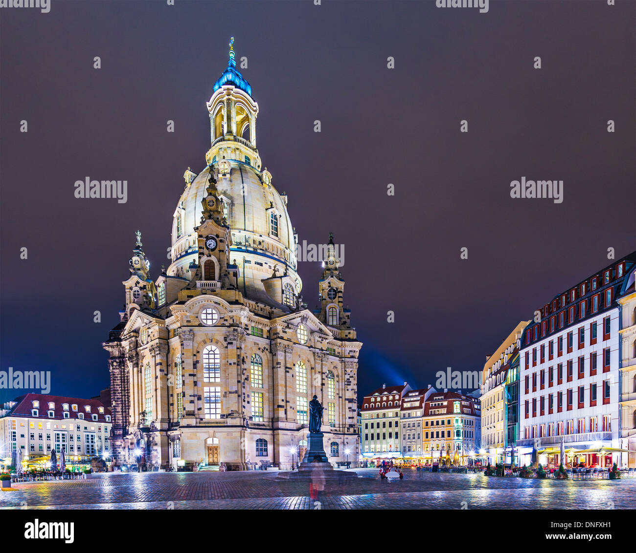 Dresden, Germany at Neumarkt Square. - Stock Image