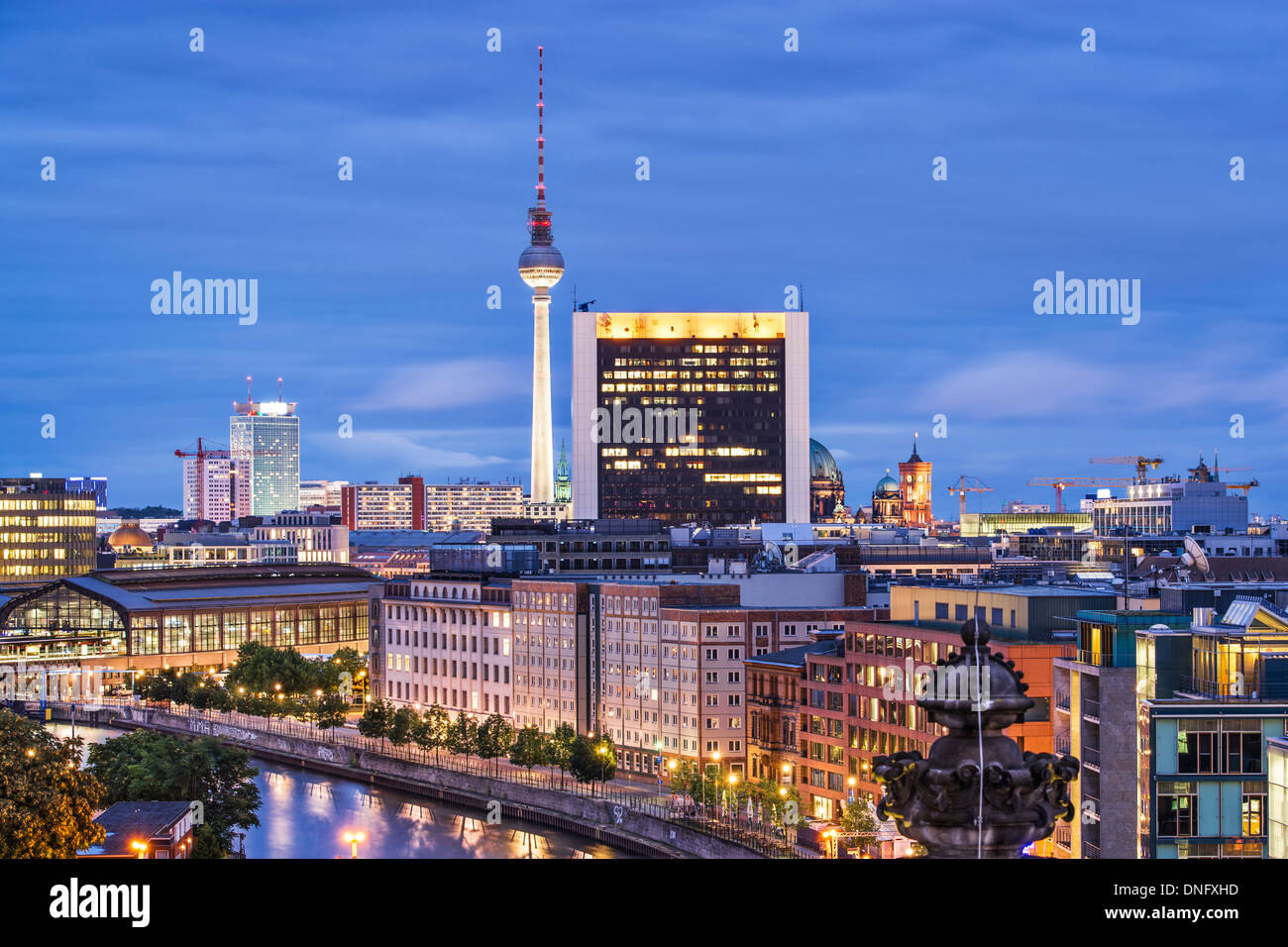 Cityscape of Berlin, Germany. Stock Photo