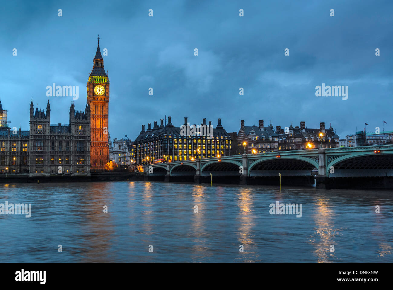 Big Ben and Houses of Parliament, Westminster, London. - Stock Image
