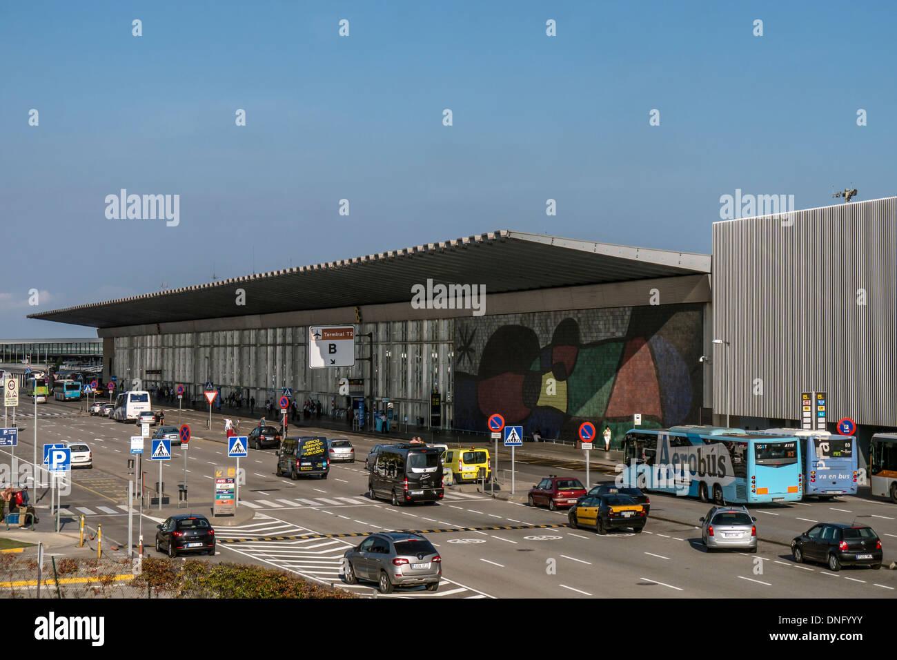 Terminal Building at Barcelona Airport - Stock Image
