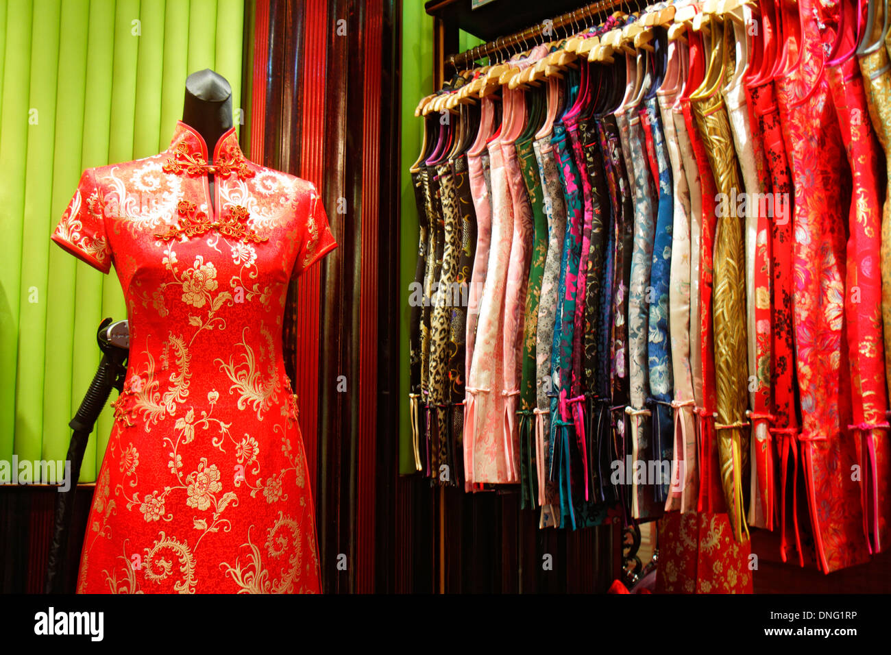 3cdfcc656 Beijing China The Malls at Oriental Plaza shopping sale display women's clothing  dresses traditional influences fashion
