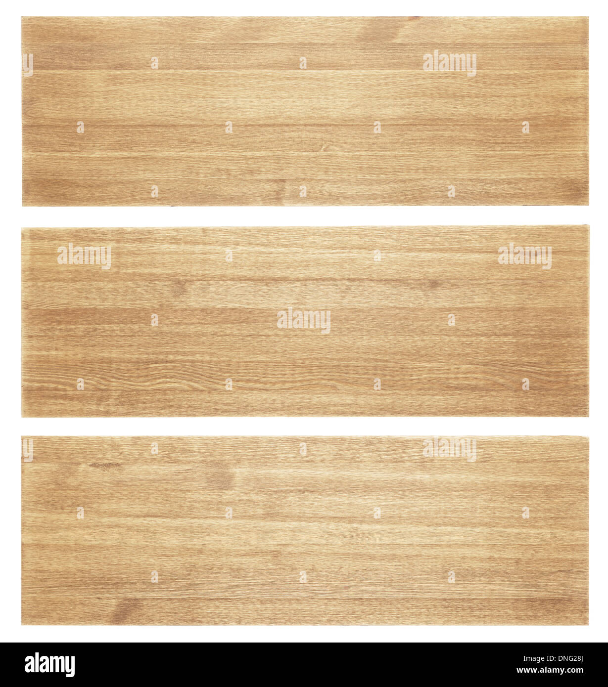 Wooden planks isolated on white background - Stock Image