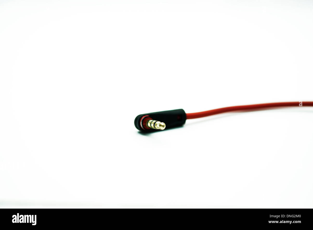 headphones half inch jack plug connector cut out white background Stock Photo