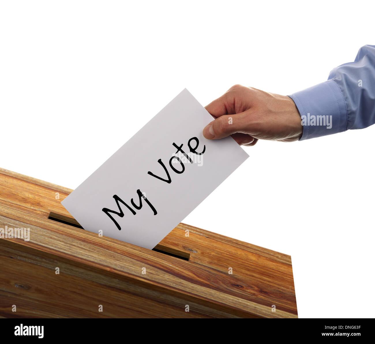 Ballot box voting - Stock Image