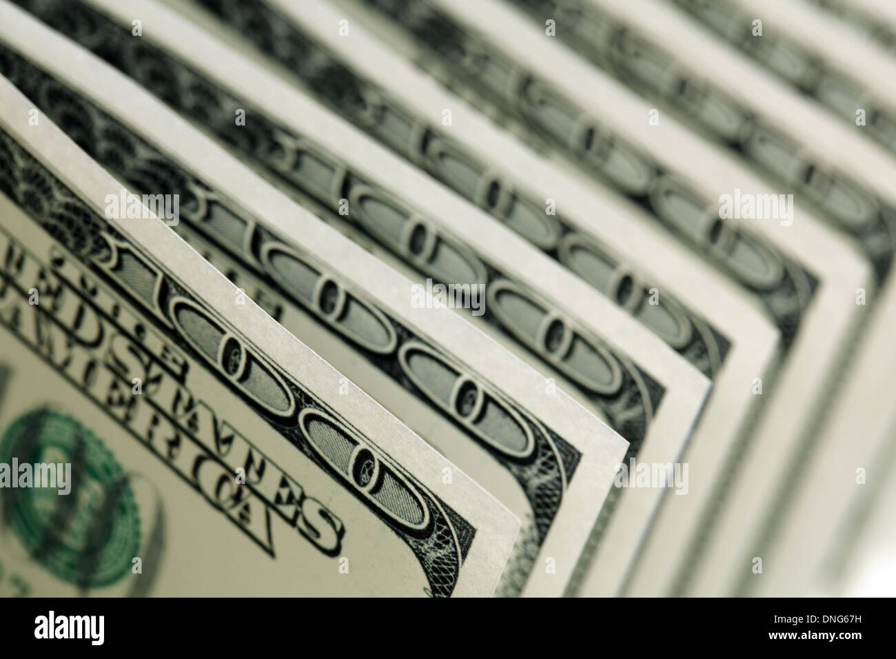 One hundred dollar bills - Stock Image