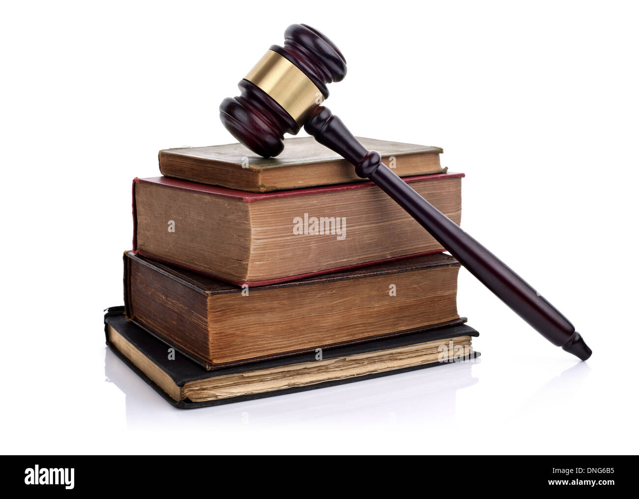 Gavel and law books - Stock Image
