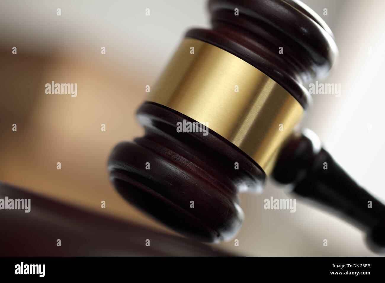 Gavel in court of law - Stock Image