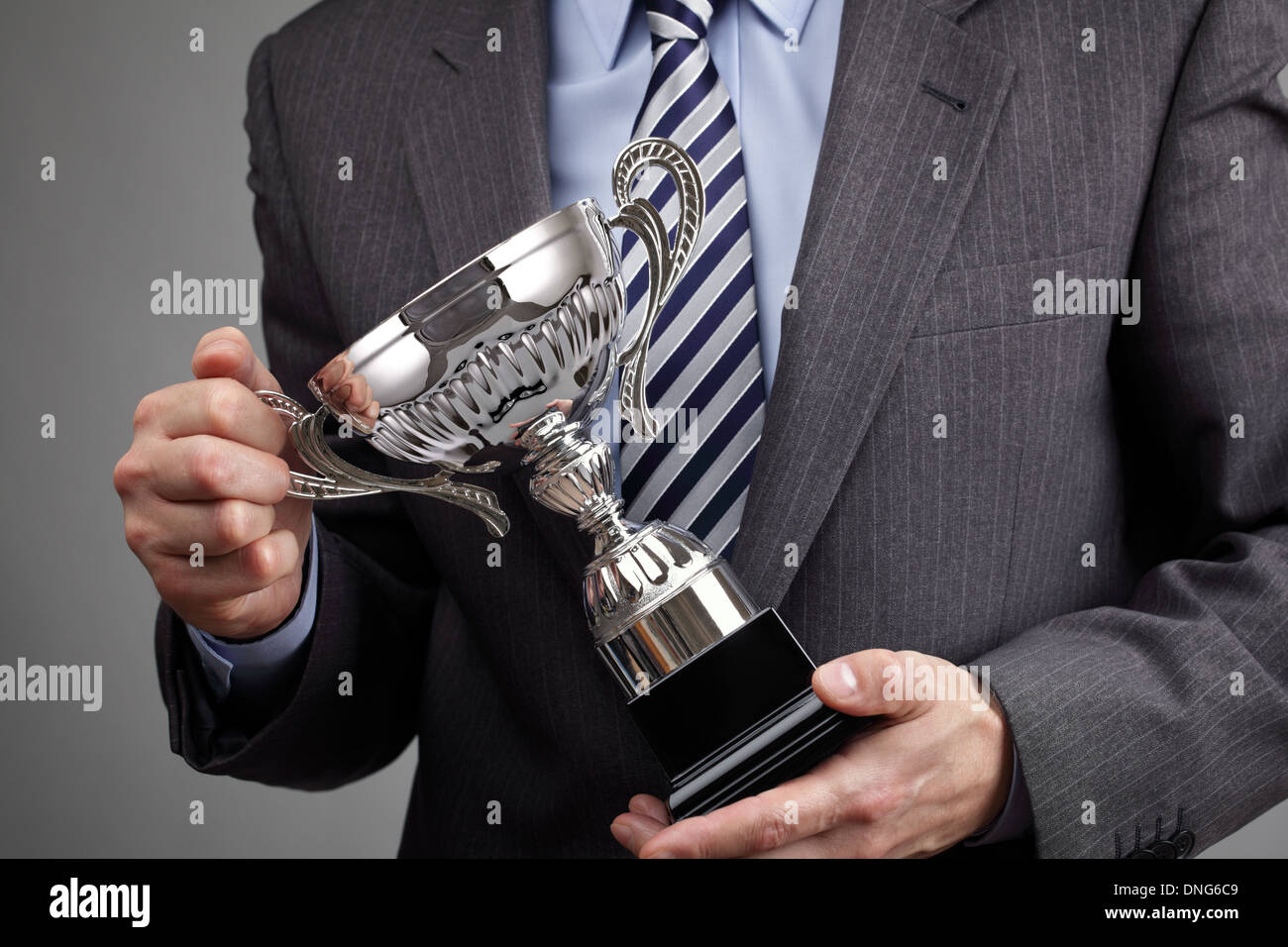 Winning business trophy - Stock Image