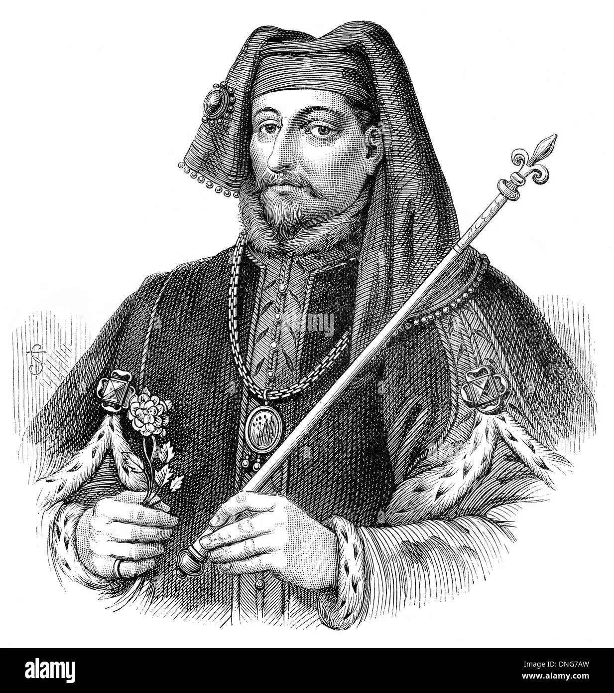 Henry IV or Henry of Bolingbroke, 1367 - 1413, King of England and Lord of Ireland - Stock Image