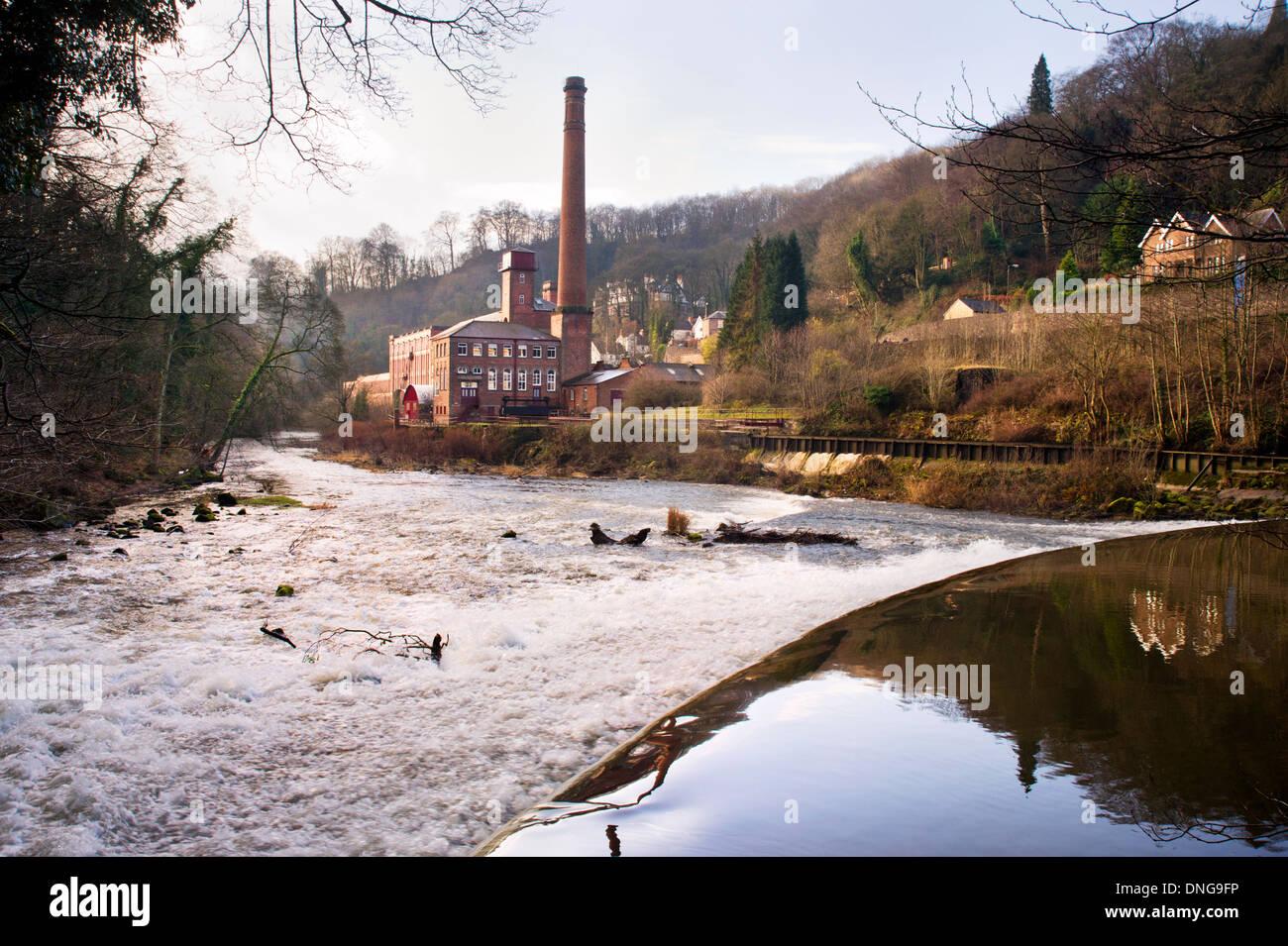 Masson Mill, Derwent Valley Mills World Heritage Site, Cromford, Derbyshire, England, UK - Stock Image