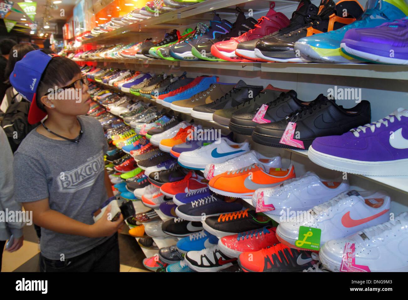 246e0828e7dba3 Hong Kong China Kowloon Mong Kok Fa Yuen Street Sneaker Street shopping  fashion athletic shoe store