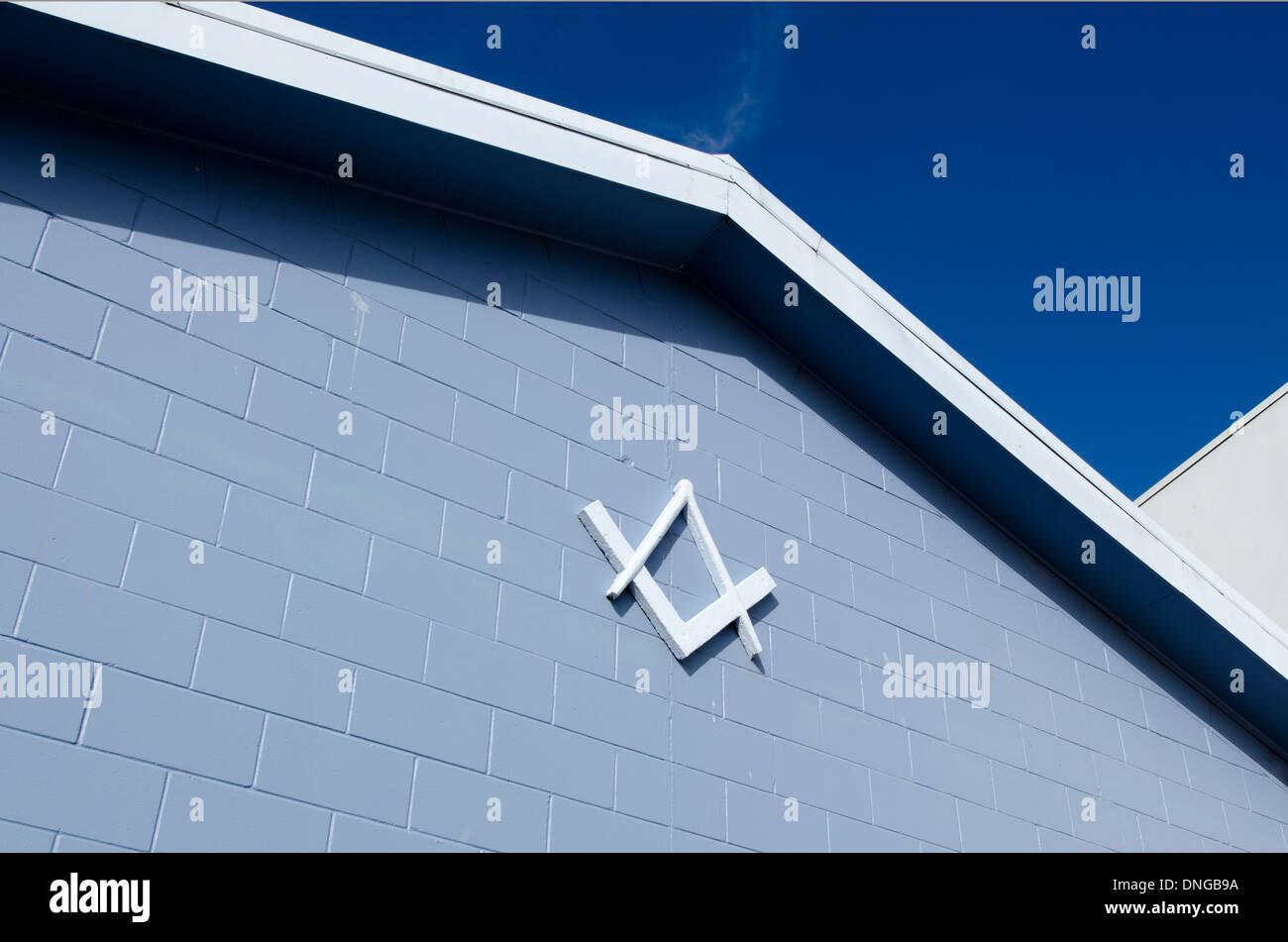 A Freemason (Masonic) Centre in Kerikeri, New Zealand - Stock Image