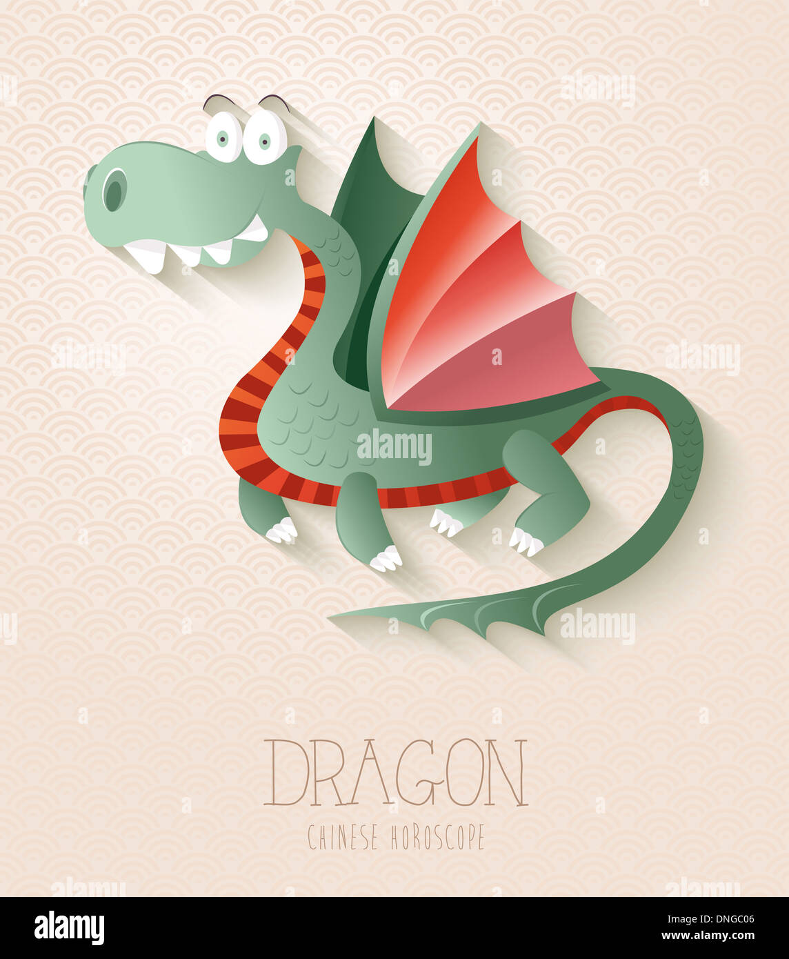 2024 chinese new year of the dragon funny cartoon zodiac collection illustration eps10 vector file