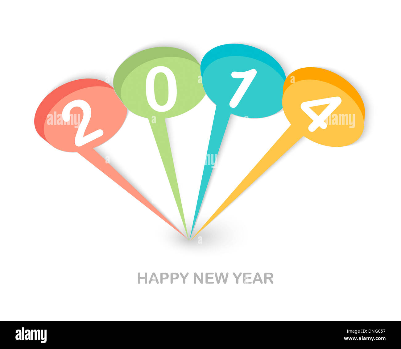 Happy new year 2014 social media talk bubbles greeting card stock happy new year 2014 social media talk bubbles greeting card background eps10 vector file with transparency layers m4hsunfo