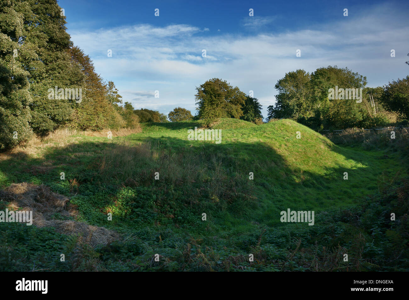 Remains of a Norman Motte at Church Norton, Pagham Harbour, West Sussex, UK - Stock Image