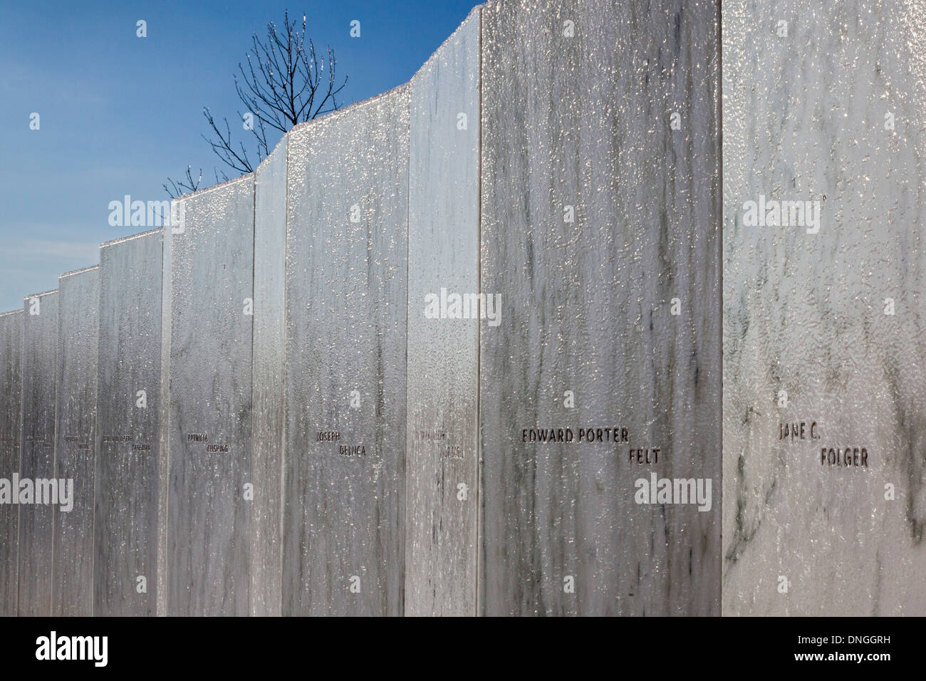 The Flight 93 National Memorial remembers those killed on United Airlines Flight 93 on September 11, 2001. Stock Photo