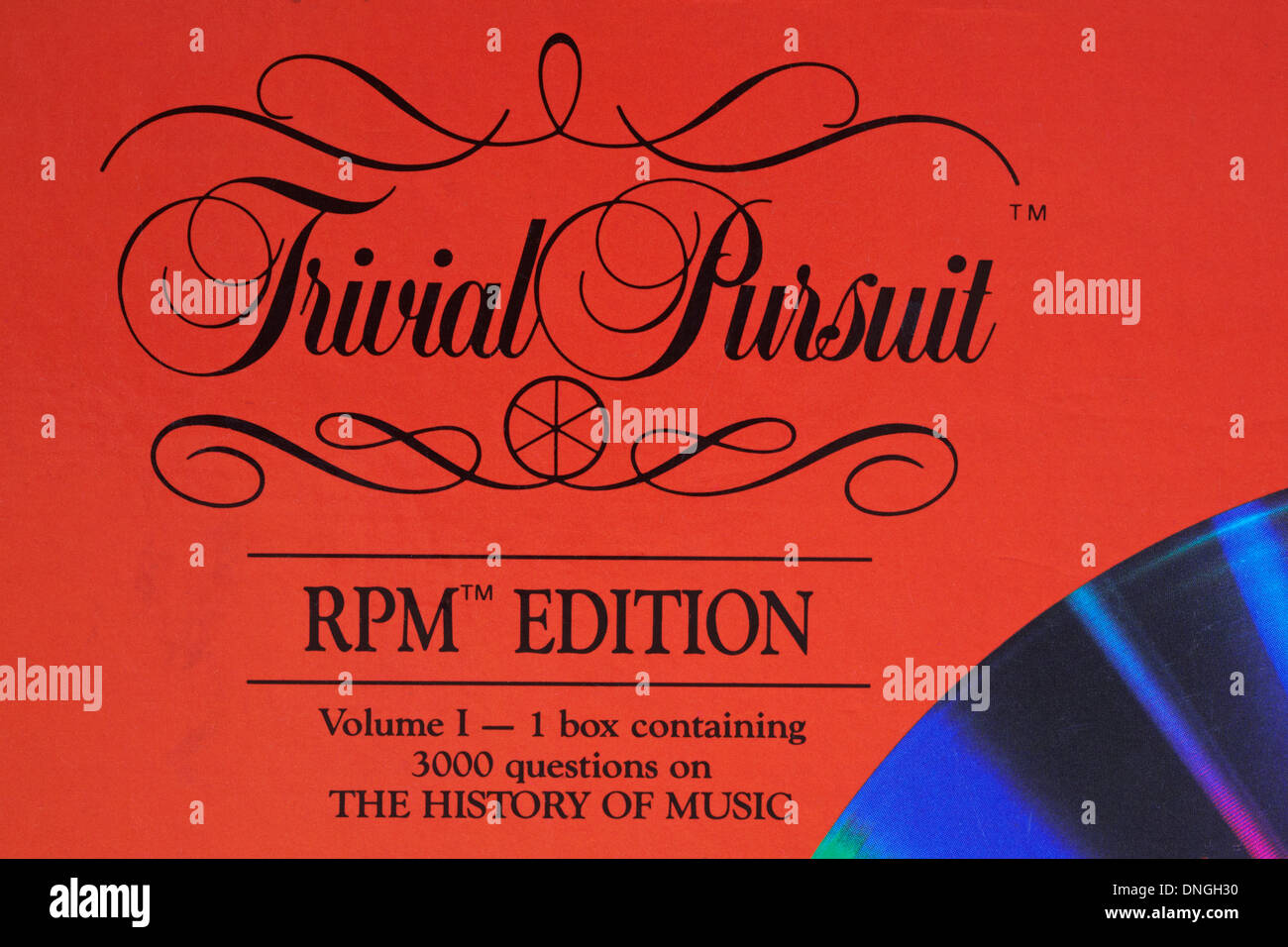 Trivial Pursuit RPM edition - The History of Music - Stock Image