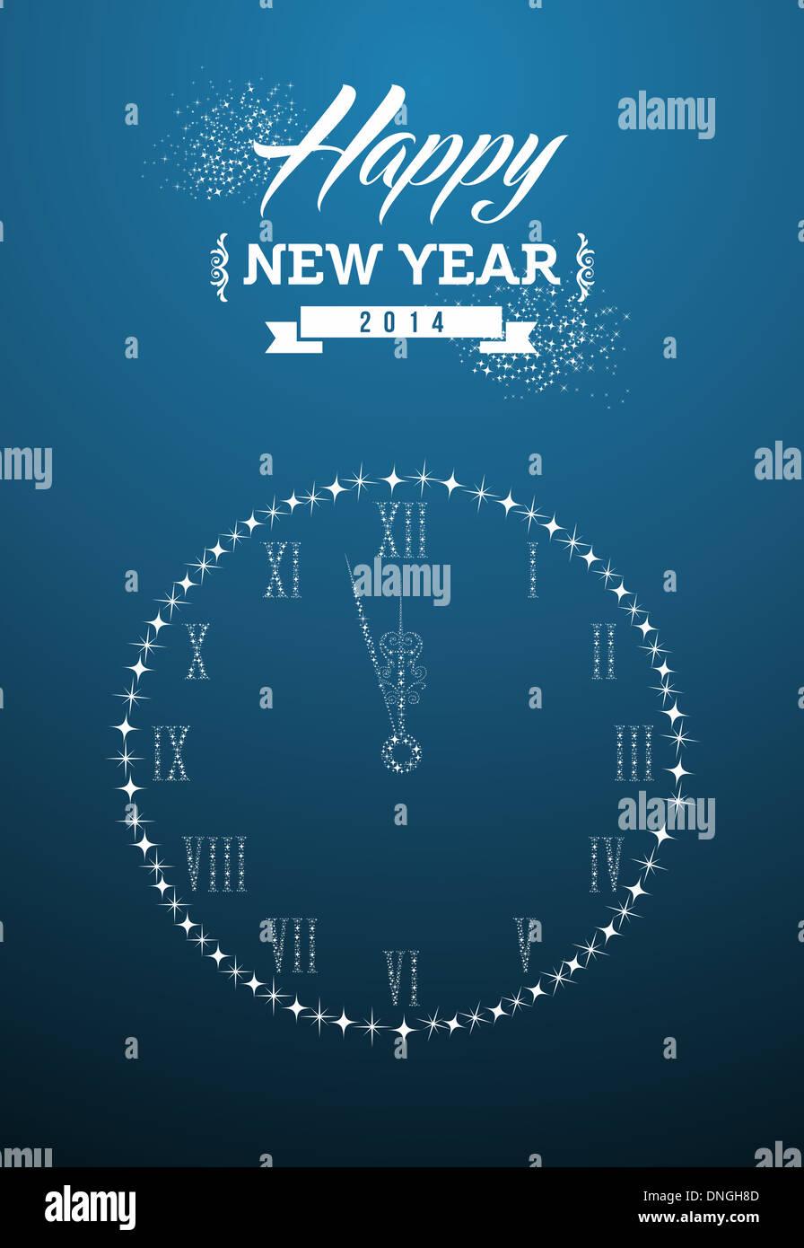 Happy New Year 2014 Holidays Contemporary Invitation Card